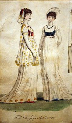 1800 April Dresses | http://historicalsewing.com