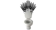Let your dad really be King of his Throne with this Game Of Thrones Swords white vinyl decal sticker in their bathroom.