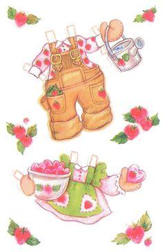 Strawberry shortcake paper doll