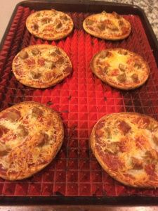 sandwhich thin pizzas for the heathly option of cheating! No more pizza hut!
