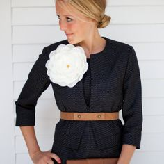 Emerson Made Tweet Jacket - and that flower!  $178.00, currently sold out