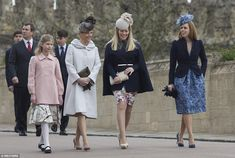 Lady Louise Windsor, Sophie Wessex, Autumn Phillips and Princess Beatrice, Windsor, Easter 2015