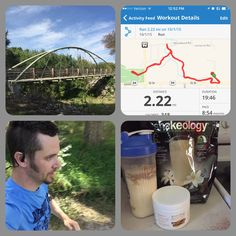 Short but good/hard run done.  Now onto my shake and back to work. #fitdad #beachbodycoach #run #shakeology