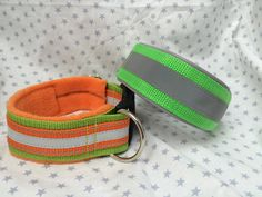 Halsband Extra breit mit Reflektorstreifen. Gut für Jäger, Jagdhunde oder einfach nur so um bei Dämmerung gut gesehen zu werden !