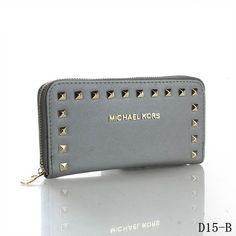 b258a61d278c Michael Kors Selma Stud Logo Small Grey Wallets Michael Kors Clutch