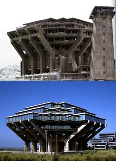 UCSD's (My alma mater) Geisel Library in the movie Inception. *Brutalist Architecture