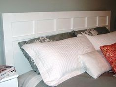 DIY Network has simple step-by-step instructions on how to build a classic-style headboard.