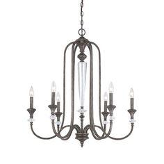 Craftmade 26726-MB 6 Light Boulevard Chandelier #home decor sale & deals Finish:Mocha Bronze, Light Bulb:(6)60w B10 Cand C Incand Boulevard 6-Light Chandelier...