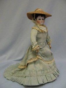 "10 ½"" Antique ""00"" Bru c1870 French Fashion Doll Swivel Neck Cobalt Glass Eyes | eBay"