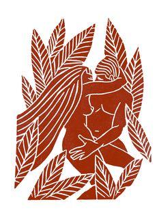 le Baiser, linogravure, linocut, illustration, couple, love Gravure Illustration, Art Et Illustration, Art Inspo, Linocut Prints, Art Prints, Art Du Collage, Lino Art, Ouvrages D'art, Art Graphique