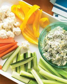 Lighter appetizer idea from Martha Stewart: Spinach-Artichoke Dip