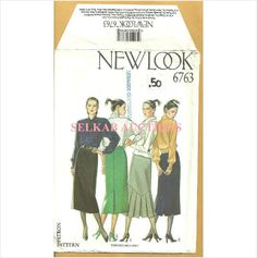 New Look 6763 Sewing Pattern Misses' Pencil Skirt Sizes 8 10 12 14 16 18 Uncut on eBid Canada
