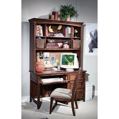 Have to have it. American Spirit Computer Desk with Optional Hutch - $679.99 @hayneedle