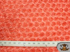 """Taffeta SMALL ROSETTE Orange Fabric / 58-60"""" Wide / Sold by the Yard on Etsy, $14.49"""