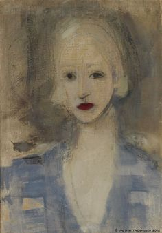 Blond Woman Artist: Helene Schjerfbeck Completion Date: 1925 Style: Expressionism Genre: portrait Helene Schjerfbeck, Helsinki, Female Painters, Art Graphique, Art And Illustration, Famous Artists, Portrait Art, Face Art, Figurative Art