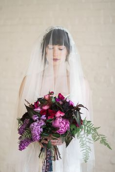 Juliette 1920s style #vintage #veil from All about Romance || Justina Bilodeau Photography