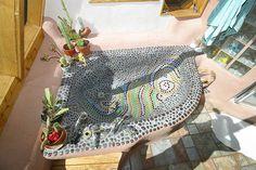 master bath tub in an earthship