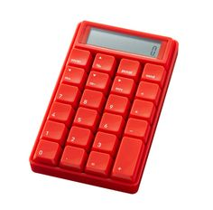 USB/Stand-Alone Ten-Key Calculator in Red