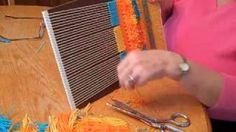 Trimming Rya Weave So It's Fluffy by Sandy Boccuzzo - YouTube