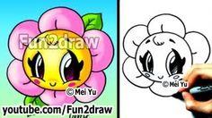 Kawaii Tutorial - How to Draw a Flower - Cute & Easy! - Popular ...