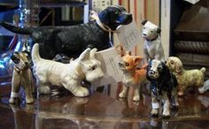 cast iron dog figurines from Nell Hill's