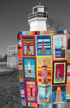 Lighthouse quilts - love it