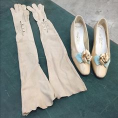 Spotted while shopping on Poshmark: 🎉2x HP🎉 My grandmother's wedding shoes & gloves! #poshmark #fashion #shopping #style #Vintage #Shoes