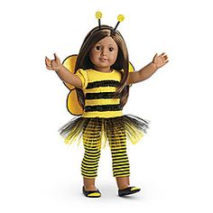 NEW! Bee Myself Outfit for Dolls + Charm