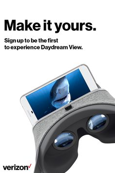 Daydream View is a VR headset and controller by Google that lets you explore new worlds, kick back in your personal VR cinema, and play games that put you at the center of the action. Enjoy a smoother VR experience on Verizon, the next gen network.