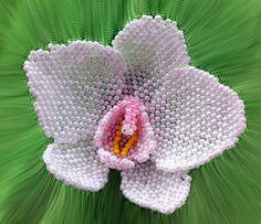 Beaded peyote orchid flower tutorial
