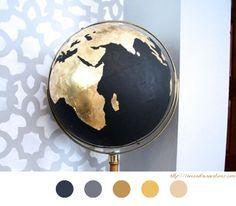 Globe Terrestre - DIY Déco - Customiser Globe - Terre - Monde - World - Tutoriel - Tuto -
