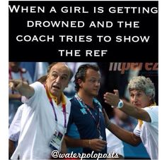 Usually Coach doesn't look this calm. She's more like: WHY CAN'T SHE SWIM REF, WHY CAN'T SHE SWIM???