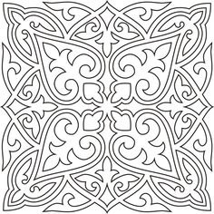 Awesome Most Popular Embroidery Patterns Ideas. Most Popular Embroidery Patterns Ideas. Stencil Patterns, Stencil Designs, Pattern Art, Embroidery Patterns, Quilt Patterns, Mandala Coloring Pages, Colouring Pages, Coloring Books, Motifs Islamiques
