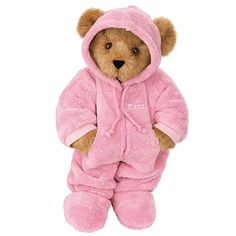 "15"" Hoodie-Footie Bear from Vermont Teddy Bear $69.99. #Classic #Gift #TeddyBear"