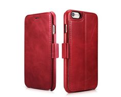 ==> [Free Shipping] Buy Best ICARER Genuine Leather Luxury For iPhone 6/6S Vintage Wallet Case with Three Credit Cards Slot Design For apple 6 6s cases Online with LOWEST Price | 32678862004