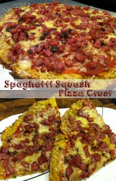 Paleo Roasted Spaghetti Squash Pizza Crust minus the cheese topping Dairy Free Recipes, Low Carb Recipes, Whole Food Recipes, Cooking Recipes, Healthy Recipes, Gluten Free, Paleo Meals, Paleo Food, Keto Foods