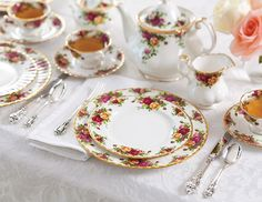 Royal Albert's Old Country Roses is the best-selling bone china pattern in the world. It is truly an English classic.