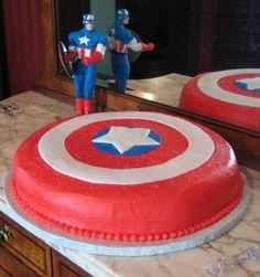 Simple Captain America Cake