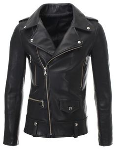 Lamb Leather Solid Motorcycle Coats & Jackets for Women Leather Fashion, Leather Men, Biker Leather, Leather Jackets, Black Leather, Riders Jacket, Motorcycle Jacket, Motorcycle Leather, Fashion Moda