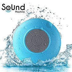 Waterproof Bluetooth Shower Speaker  Water Resistant with Bluetooth 30 that is Handsfree and Portable  Wireless Spaekers that Eliminate your Headphones Now *** You can get more details by clicking on the image.