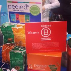 @Tonya Lee Snacks was proud to sport our BCorp sign at #ExpoWest #organic #snacks