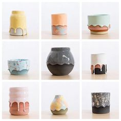 Ceramicist Creates Rainbow-Colored Pots and Vases Dripping with Thick Glaze