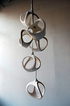 ceramic lighting  Hanging art