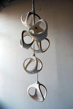 ceramic lighting  Hanging art