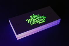 We Live After Midnight \ Glow in The Dark Business Card by The Mbamoe Vectory ., via Behance