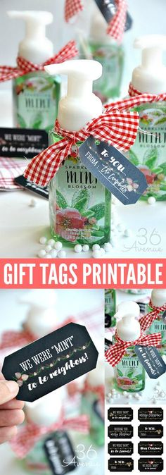 Christmas Gift Idea and Gift Tag Printable. Pin it now for later.