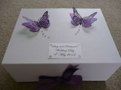 Cadbury Purple Butterfly Keepsake Box Personalised Gift Wedding Birthday 40th