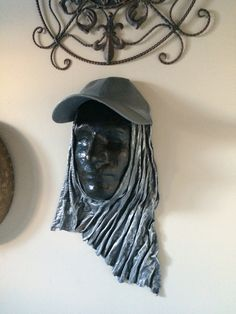 Fabric Art, Sculptures, Dreadlocks, Hats, Hair Styles, Beauty, Beleza, Dreads, Hat