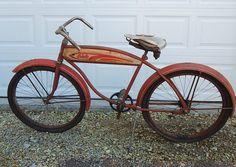 Vintage 1940's Columbia Torpedo Tank Bike 1940s, Columbia, Bicycle, Vintage, Bike, Bicycle Kick, Bicycles, Vintage Comics, Colombia