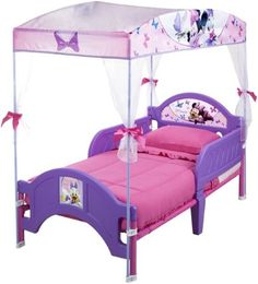 Delta Children Minnie Mouse Canopy Toddler Bed Purple